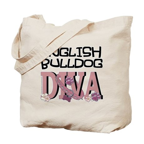 English Bulldog DIVA Tote Bag