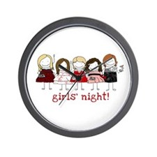 Girls' Night Wall Clock