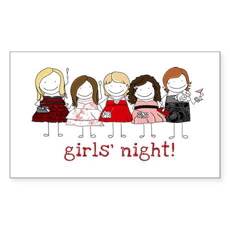 Girls' Night Sticker (Rectangle)