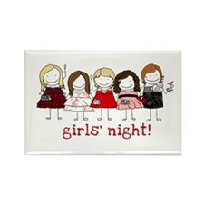 Girls' Night Rectangle Magnet