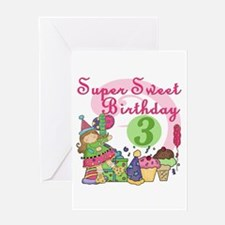 Sweet 3rd Birthday Greeting Card