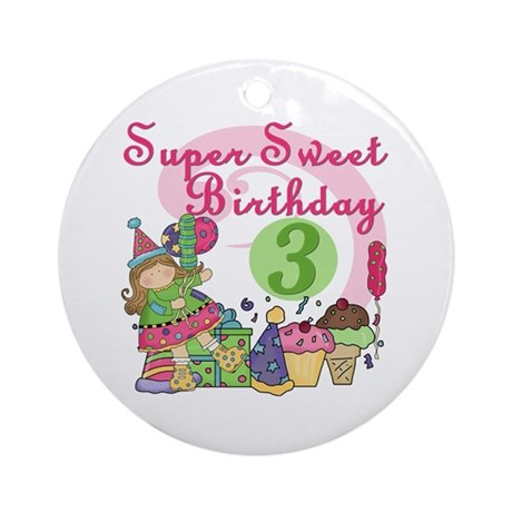 Sweet 3rd Birthday Ornament (Round)
