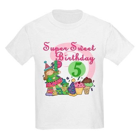 Sweet 5th Birthday Kids Light T-Shirt
