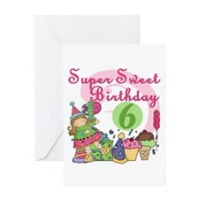 Sweet 6th Birthday Greeting Card