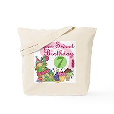 Sweet 7th Birthday Tote Bag