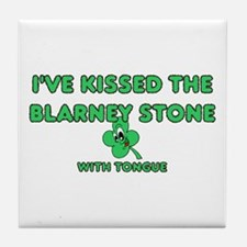 I've Kissed The Blarney Stone Tile Coaster