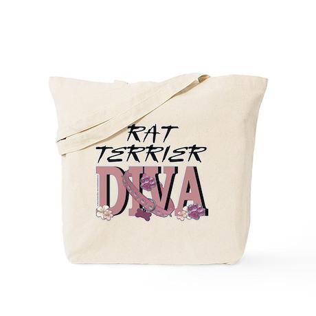 Rat Terrier DIVA Tote Bag