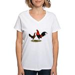 Old English BB Reds Women's V-Neck T-Shirt