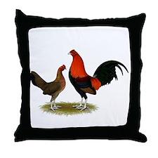 Old English BB Reds Throw Pillow