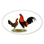 Old English BB Reds Sticker (Oval 50 pk)
