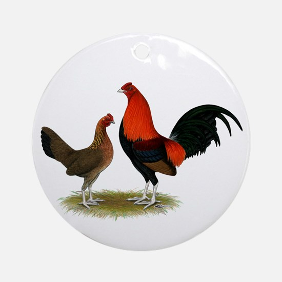 Old English BB Reds Ornament (Round)