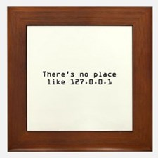 There's No Place Like It Framed Tile
