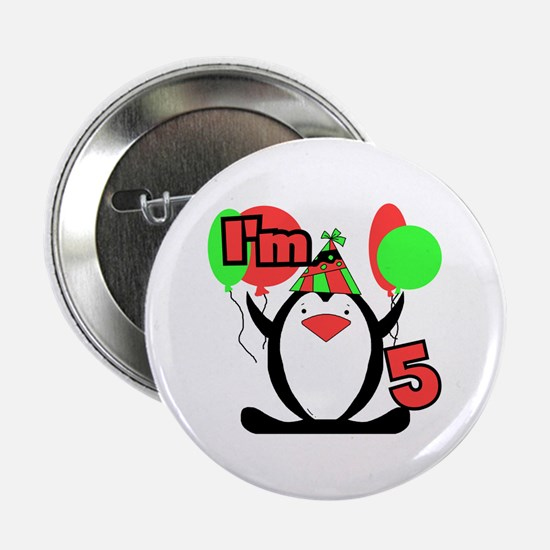 "5th Party Penguin 2.25"" Button"