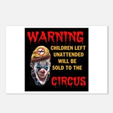 OBAMA CIRCUS CLOWN Postcards (Package of 8)