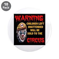 "OBAMA CIRCUS CLOWN 3.5"" Button (10 pack)"