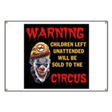 Funny clown Banners