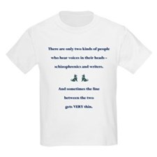 Schizophrenic Writers Kids T-Shirt