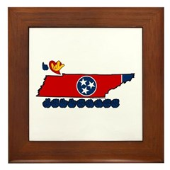 ILY Tennessee Framed Tile