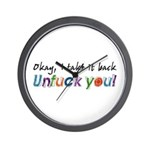 I Take It Back Unfuck You Wall Clock