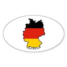 Germany National Flag Outline Oval Decal