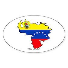 Venezuela National Flag Outline Oval Decal