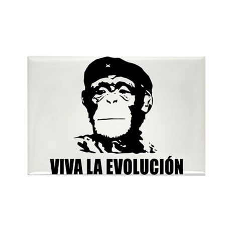 Atheism Evolution Rectangle Magnet