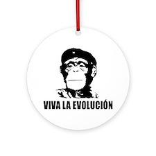 Atheism Evolution Ornament (Round)