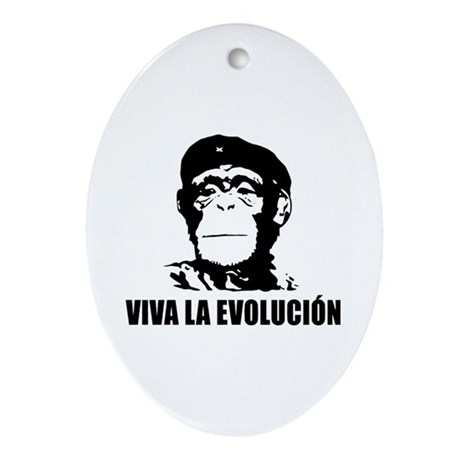 Atheism Evolution Ornament (Oval)