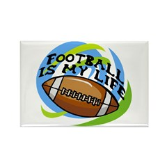 Football Life Rectangle Magnet (100 pack)