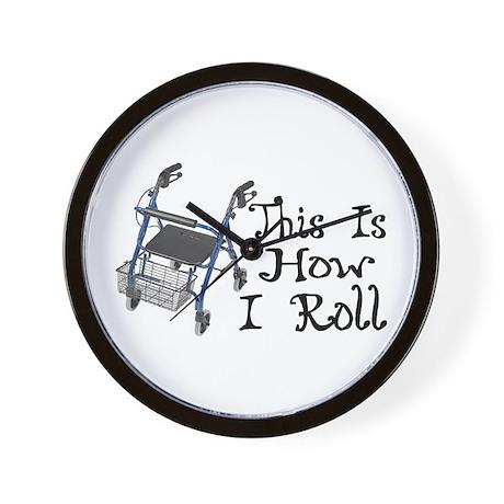 How I Roll Walker Wall Clock