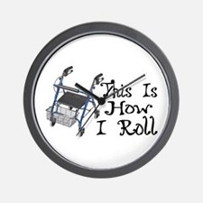 How I Roll Walker Wall Clock