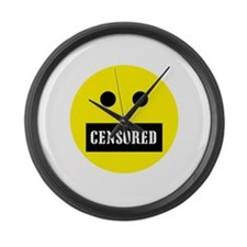 Censored Face Large Wall Clock