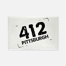 412 Pittsburgh Rectangle Magnet