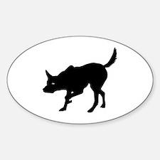 Australian Kelpie Oval Bumper Stickers