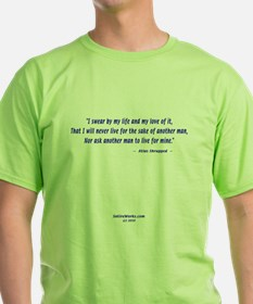 Atlas Shrugged Green 2-sided T