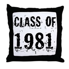 Class of 1981 Throw Pillow