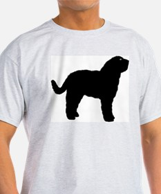Barbet (French Water Dog) Ash Grey T-Shirt