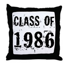Class of 1986 Throw Pillow