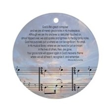 Grace Notes Ornament (Round)