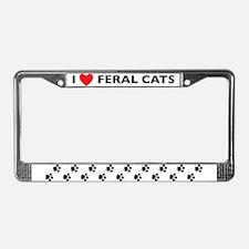 Feral cat License Plate Frame