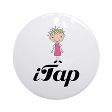 Cute I Tap Dancing Gift Ornament (Round)