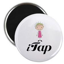 "Cute I Tap Dancing Gift 2.25"" Magnet (10 pack)"