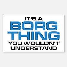 Star Trek: Borg Thing Decal