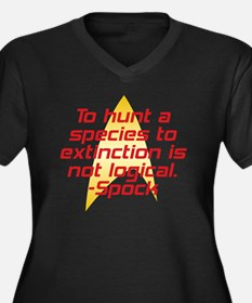 Star Trek: Spock Quote Women's Plus Size V-Neck Da