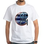 Enterprise Patch (metal look) White T-Shirt