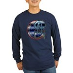 Enterprise Patch (metal look) Long Sleeve Dark T-S