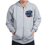 Enterprise Patch (metal look) Zip Hoodie
