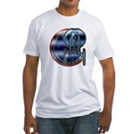 Enterprise Patch (metal look) Fitted T-Shirt