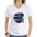 Enterprise Patch (metal look) Women's V-Neck T-Shi