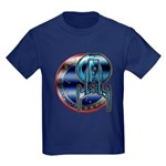 Enterprise Patch (metal look) Kids Dark T-Shirt
